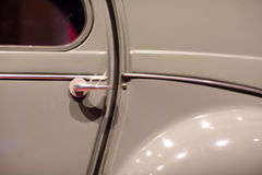 Classic cars. Doorknob close-up of the first part of Royalty Free Stock Photo