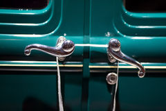 Classic cars. Doorknob close-up of the first part of Stock Photo