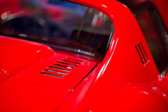Classic cars. Engine compartment close-up of the first part of Royalty Free Stock Photography