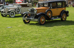 Classic cars exhibition Stock Photography