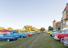 Classic cars at the 2015 Frankenmuth Auto Fest Royalty Free Stock Image