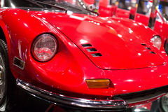 Classic cars. Lights close-up of the first part of Royalty Free Stock Photo