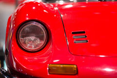 Classic cars. Lights close-up of the first part of Royalty Free Stock Photos