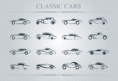 Classic cars logo Royalty Free Stock Images