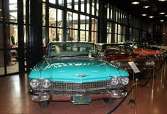 Classic cars in museum Stock Image