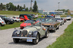 Classic Cars Parade Stock Images