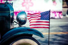 Classic cars parade. Royalty Free Stock Images