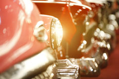 Classic Cars in a row Royalty Free Stock Image