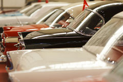 Classic Cars in a row. Beautiful classic cars in a row Stock Photo