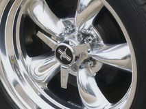 Classic Cars - Silver Wheel Royalty Free Stock Photos
