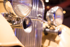 Classic cars Speaker. Close-up of the first part of Royalty Free Stock Photo