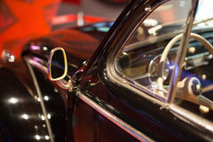Classic cars. Steering wheel close-up of the first part of Stock Image