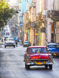 Classic cars in a street, Cuba Stock Photography