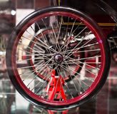 Classic cars. Wheel close-up of the first part of Stock Image