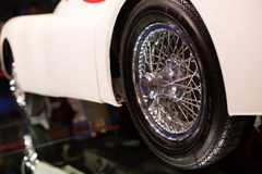 Classic cars. Wheel close-up of the first part of Royalty Free Stock Photography