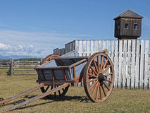Classic Cart. An image of a classic horse cart with mild HDR effect.  Shot at Fort Steele, Canada Royalty Free Stock Image