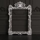 Classic carved mirror frame mockup with copy space stock illustration