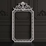 Classic carved mirror frame mockup with copy space royalty free stock photos