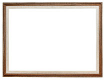 Classic carved wooden picture frame Royalty Free Stock Photos