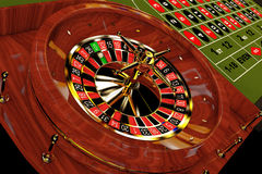Classic Casino Roulette Table. 3d Rendering Royalty Free Stock Photography
