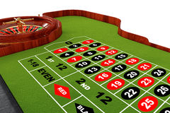 Classic Casino Roulette Table. 3d Rendering Royalty Free Stock Images