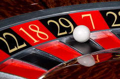 Classic casino roulette wheel with black sector twenty-nine 29 Royalty Free Stock Photography