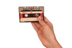Classic cassette tape. Old cassette tape. Cassette tape. Classic cassette tape. Old cassette tape. Cassette tape on white background royalty free stock photo