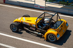 Classic Caterham race car. Photographed during Histocup event at Slovakia Ring on August 3, 2013 Royalty Free Stock Photo