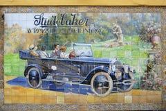 Classic ceramic tile advert of Studebaker in Seville, Spain. Stock Image