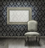 Classic Chair And Silver Frame Stock Images