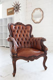 Classic Chair. Leather Classic chair is luxury furniture as home decor. it's retro and classical Stock Image