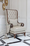 Classic chair in luxury home Stock Photos