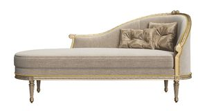 Classic chaise longue isolated on white background Royalty Free Stock Photos