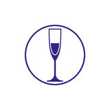 Classic champagne glass, alcohol beverage theme illustration. Li Stock Photography