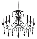 Classic chandelier on white background Royalty Free Stock Photography