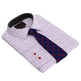 Classic checkered men's shirt and tie Royalty Free Stock Image