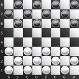 Classic checkers. Brilliant classic checkers,  illustration (eps10); there are three layers:1)letters and numbers 2)board  3)checkers; Enjoy the game Stock Image