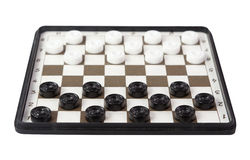 Classic checkers isolated on white Royalty Free Stock Images