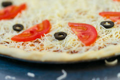 Classic cheese pizza Royalty Free Stock Images
