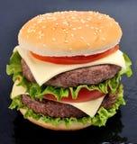 Classic cheeseburger Royalty Free Stock Image