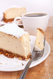 Classic cheesecake and coffee Royalty Free Stock Images