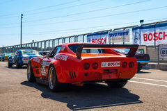 Classic Chevrolet Corvette race car. Photographed during Histocup event at Slovakia Ring on August 3, 2013 Stock Images