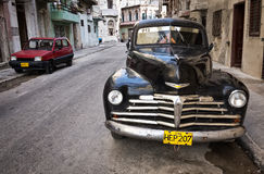 Classic chevrolet in Old Havana Stock Images