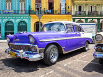 Classic Chevrolet parked in Old Havana Stock Photography