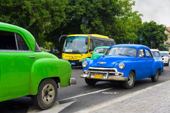 Classic Chevrolet in a street in Cuba Royalty Free Stock Photo