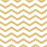 Classic chevron stripe glitter shimmer seamless. Vector pattern. Geometric zigzag line gold foil wrap event paper for holiday gift cards. Gold on white paper Royalty Free Stock Images