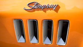 Classic Chevy Stingray car side vents Stock Photos
