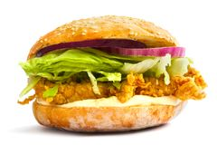 Classic Chicken Burger Royalty Free Stock Photo