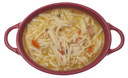 Classic Chicken Noodle Soup Stock Images