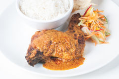 Classic Chicken Rendang Royalty Free Stock Photography